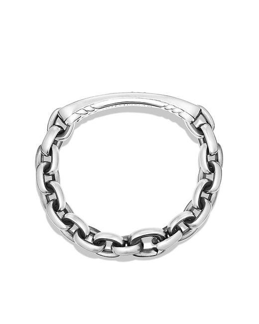 David Yurman | Metallic Pave Streamline Id Bracelet In Silver With Black Diamonds for Men | Lyst