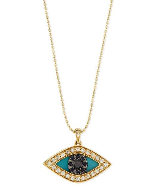 sydney evan evil eye swivel pendant necklace in