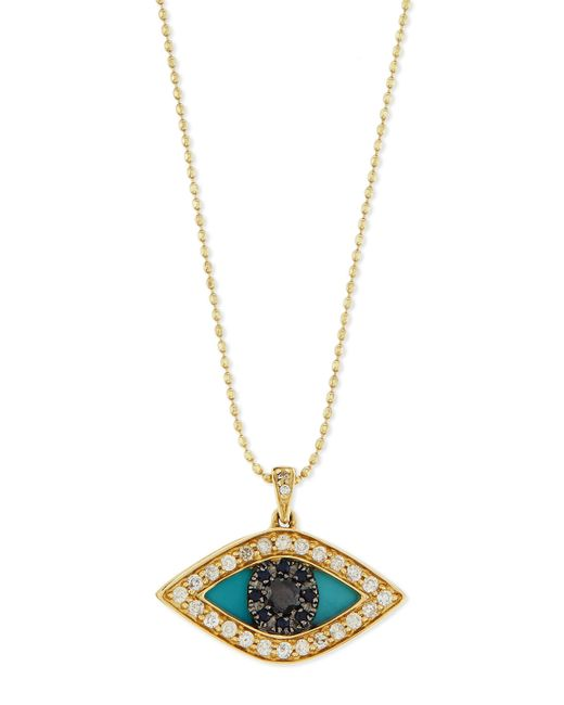 sydney evan diamond evil eye swivel pendant necklace in. Black Bedroom Furniture Sets. Home Design Ideas