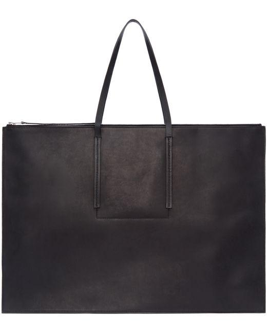 Rick Owens   Black Leather Portfolio Bag for Men   Lyst