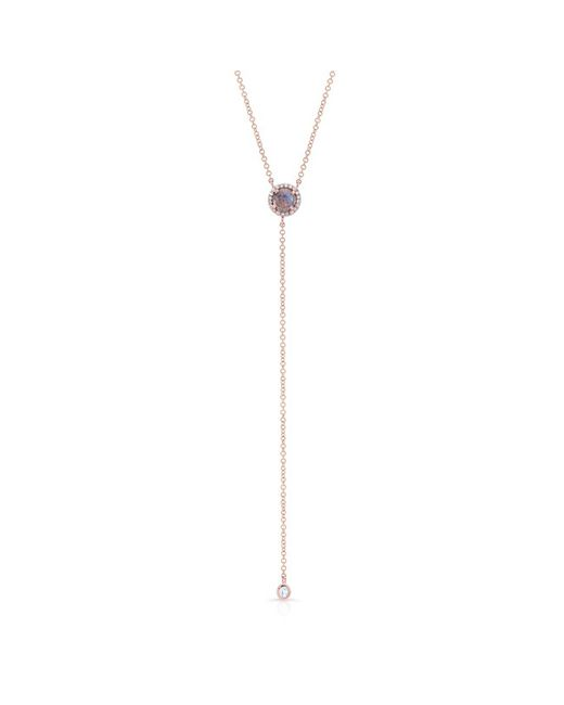 Anne Sisteron - Metallic 14kt Rose Gold Labradorite Diamond Flirt Lariat Necklace - Lyst