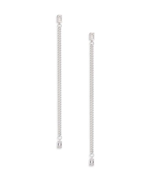 Jennifer Zeuner | Metallic White Sapphire Baguette Drop Earrings | Lyst
