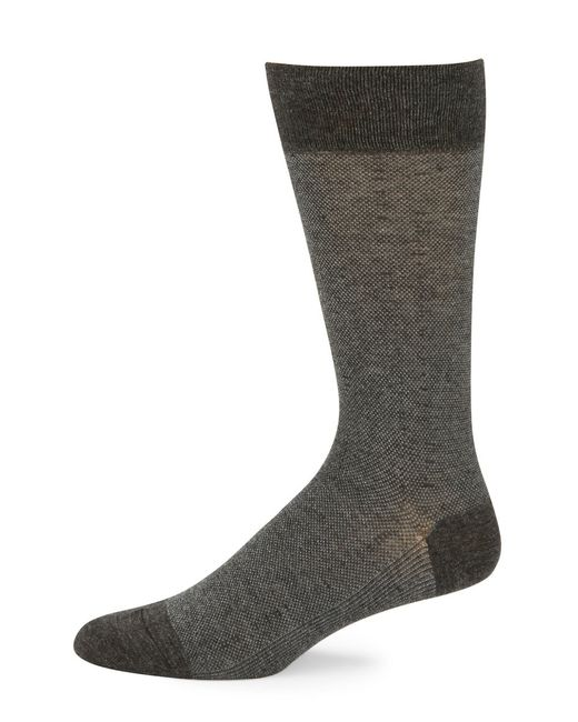 Cole Haan | Gray Dotted Crew Socks for Men | Lyst