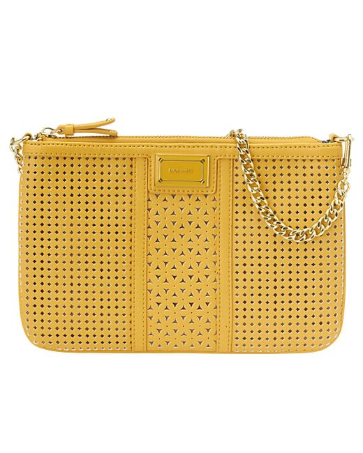 Nine West | Yellow Perforated Demi Clutch | Lyst