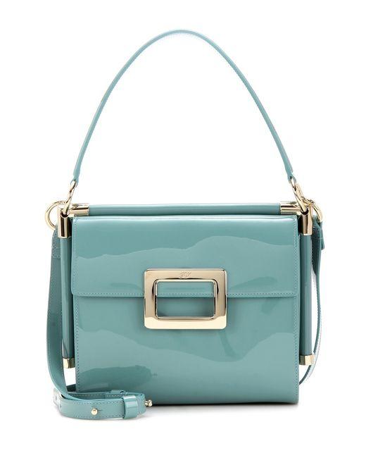 Roger vivier Miss Viv' Small Patent Leather Shoulder Bag ...