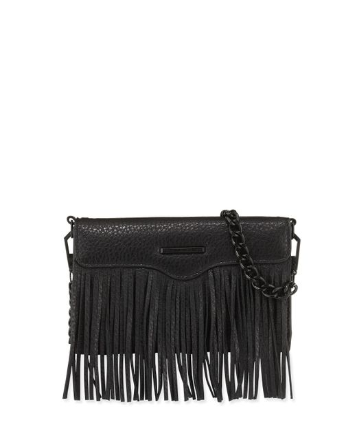 Rebecca Minkoff Universal Fringe Leather Cross Body Bag In