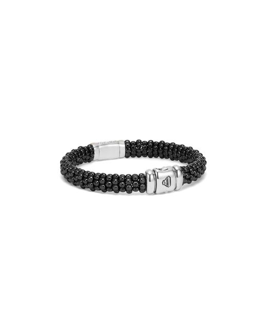 Lagos | Metallic Black Caviar Ceramic Bracelet With Pavé Diamonds And 18k Gold | Lyst