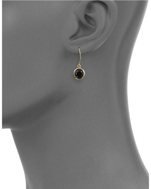 Anne Klein | Black Faceted Drop Earrings | Lyst