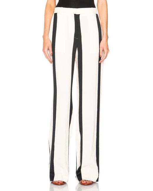 Acne | Black Obel Striped Trousers | Lyst