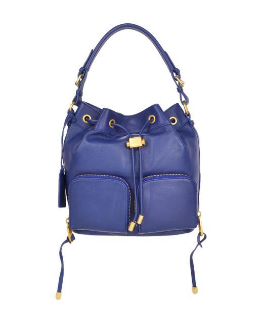 Badgley Mischka | Blue Poppy Bucket Handbag | Lyst