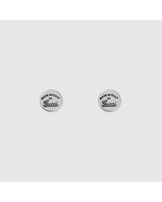 Gucci   Metallic Stud Earrings With Trademark   Lyst