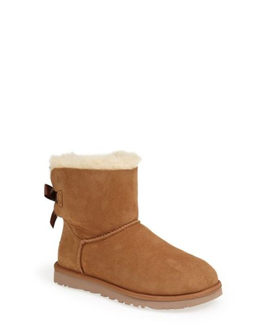 UGG   Brown 'mini Bailey Bow' Boot   Lyst