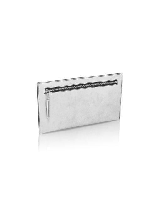 Amanda Wakeley | Metallic Super Lux Silver Poppy Bag | Lyst