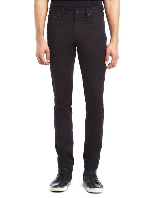 Kenneth Cole | Black Slim Fit Sateen Pants for Men | Lyst