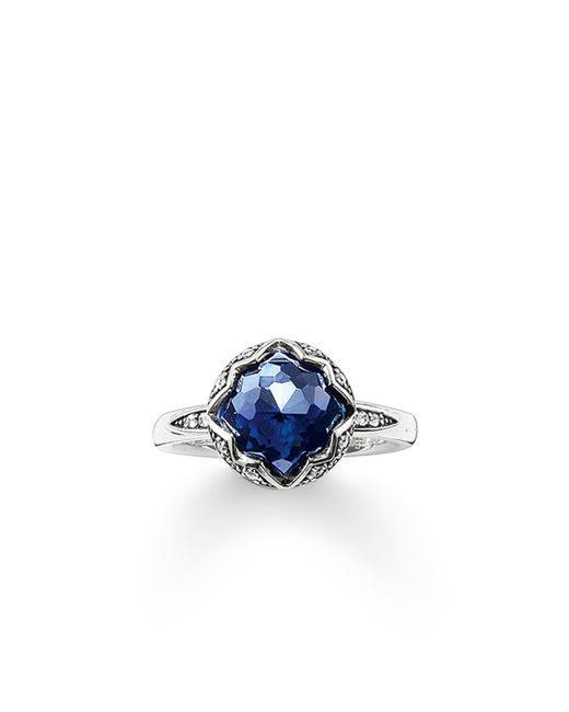 Thomas Sabo | Purity Of Lotos Blue Corundum Ring | Lyst