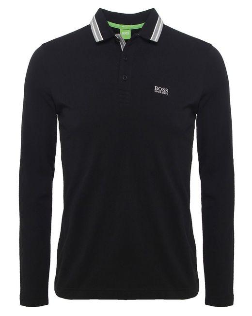 BOSS Green | Black Modern Fit Plisy Polo Shirt for Men | Lyst