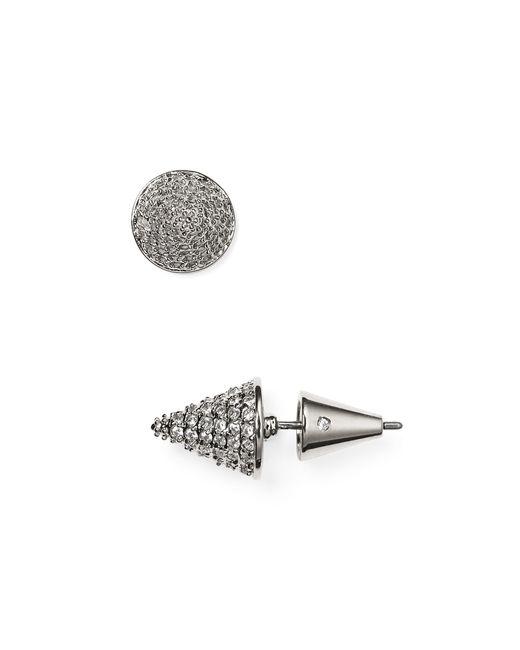 Eddie Borgo   Silver Pavé Cone Stud Earrings   Lyst