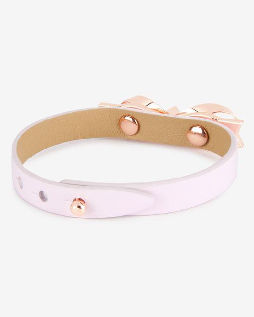 Ted Baker | Metallic Loop Bow Leather Bracelet for Men | Lyst