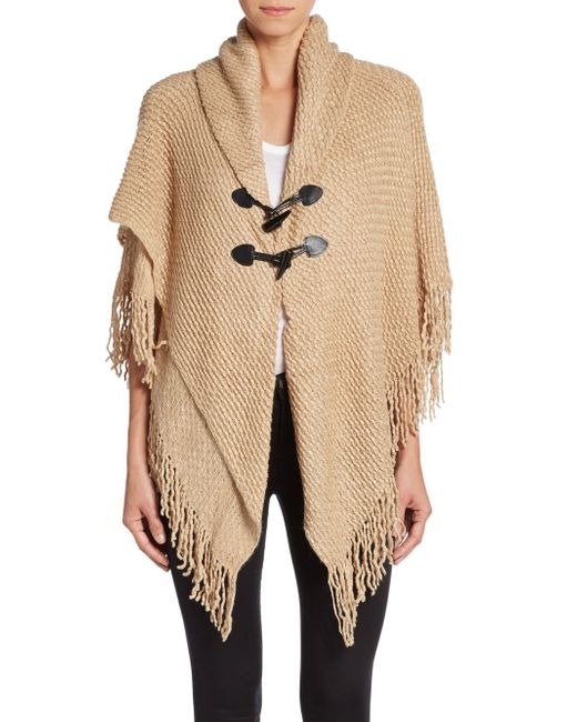 Saks Fifth Avenue | Natural Ripple Knit Toggle Cardigan | Lyst