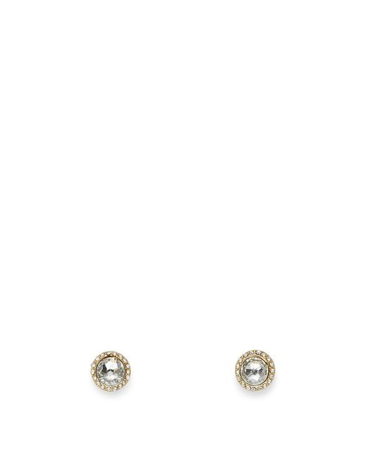 Rebecca Minkoff | Metallic Crystal Halo Stud Earring | Lyst