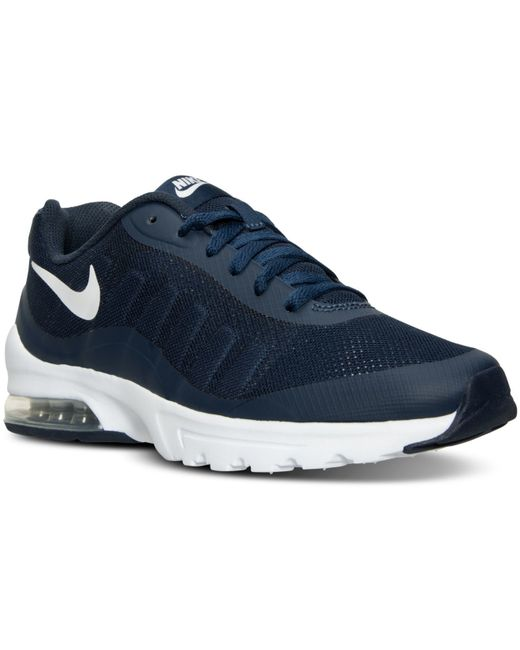 nike men 39 s air max invigor running sneakers from finish line in blue for men midnight navy. Black Bedroom Furniture Sets. Home Design Ideas
