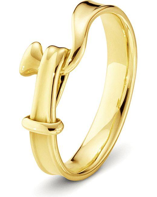 Georg Jensen | Metallic Torun 18ct Yellow-gold Ring | Lyst