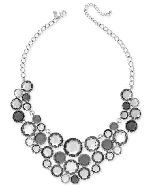 INC International Concepts | Metallic Gold-tone Black Stone Bib Necklace | Lyst