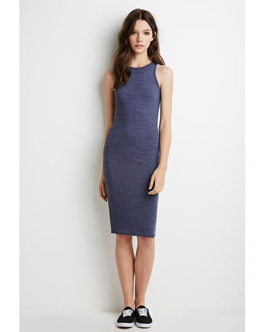 Forever 21 | Blue Racerback Midi Dress | Lyst