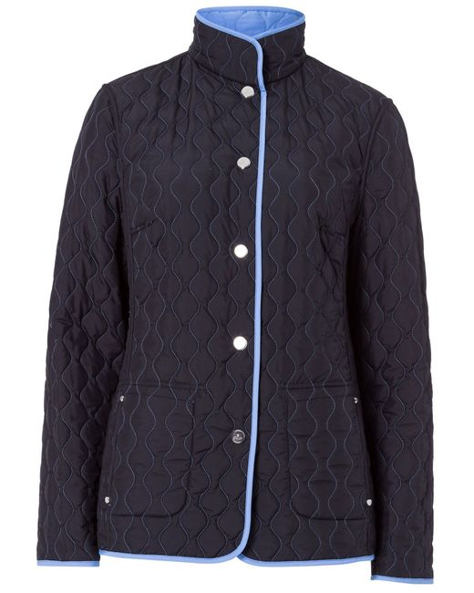 Basler | Blue Quilted Reversible Jacket | Lyst