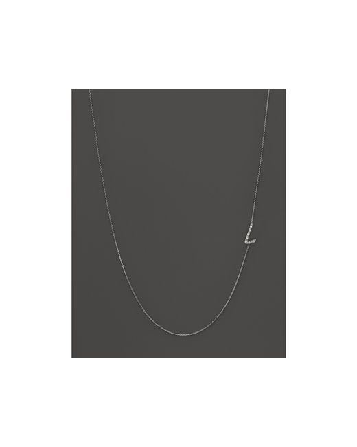 KC Designs | Diamond Side Initial L Necklace In 14k White Gold, .04 Ct. T.w. | Lyst