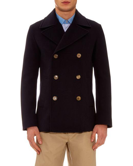 long pea coat mens : Target