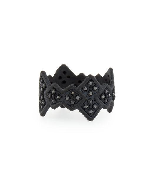 Armenta | Midnight Cravelli Black Diamond Wide Ring | Lyst