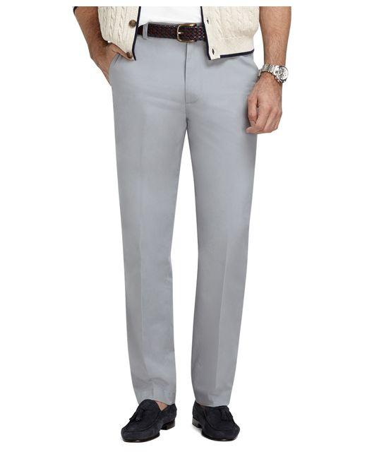 Brooks Brothers | Gray Clark Fit Supima® Cotton Poplin Pants for Men | Lyst