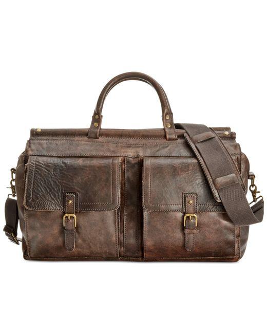 Patricia Nash | Brown Men's Heritage Leather Weekend Duffel | Lyst