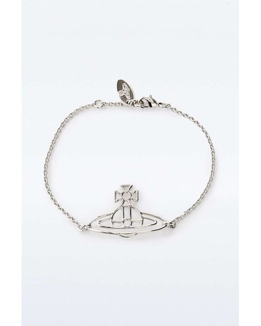 Vivienne Westwood | Metallic Thin Lines Flat Orb Bracelet Silver | Lyst