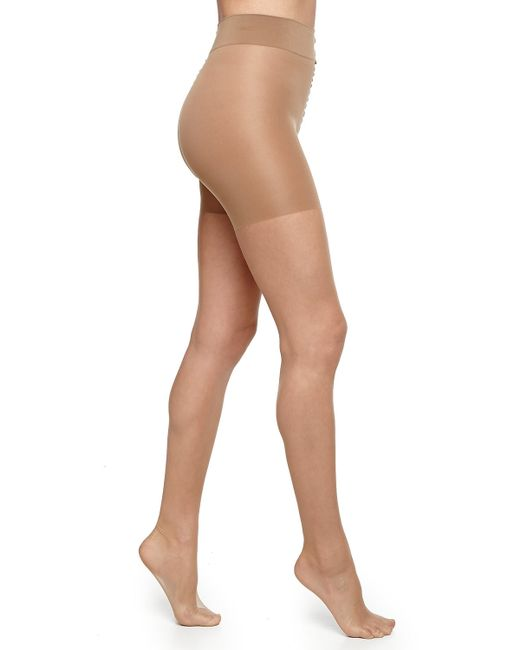 Wolford | Brown Luxe 9 Control Top Tights | Lyst