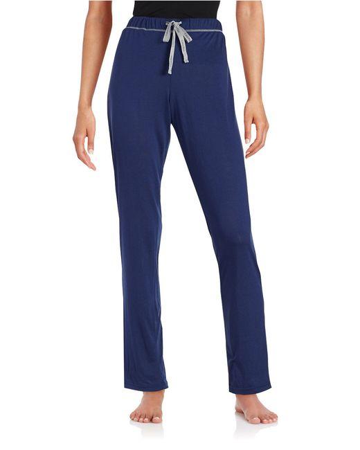 Calvin Klein | Blue Knit Sleep Pants | Lyst