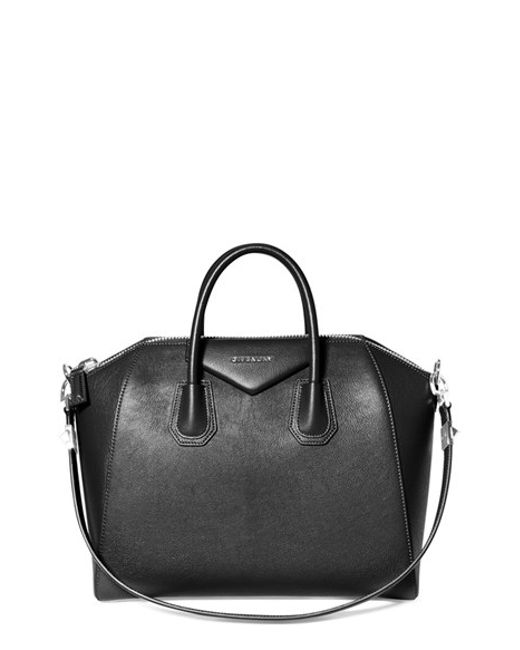 Givenchy | Black 'medium Antigona' Sugar Leather Satchel | Lyst