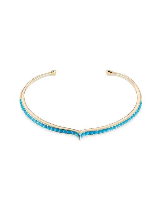 Aurelie Bidermann | Blue Aurélie Bidermann Apache Lacquered Choker - Gold | Lyst