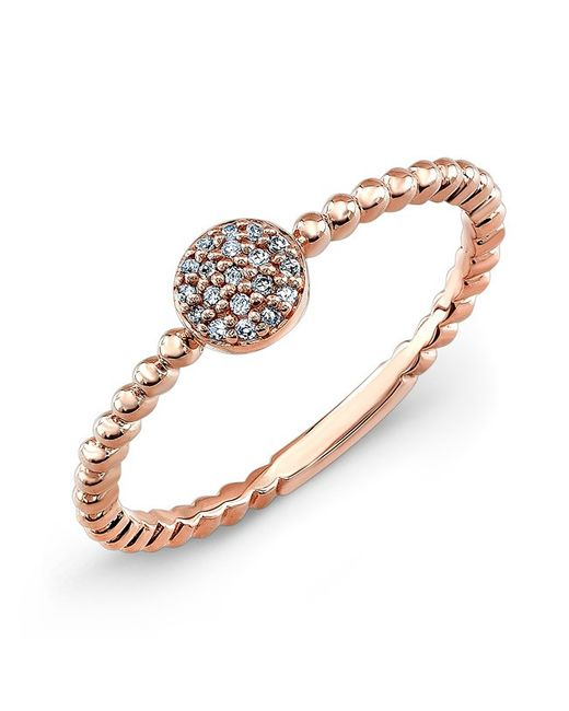 Anne Sisteron | Pink 14kt Rose Gold Diamond Stacking Ring | Lyst