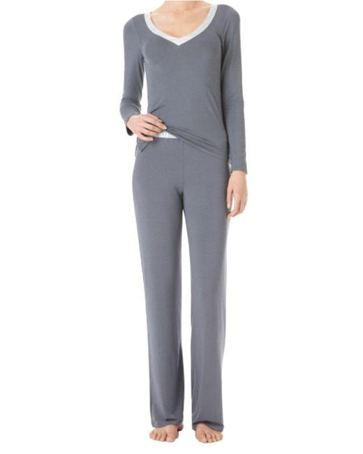 Calvin Klein | Gray Essentials V Neck Pj Top | Lyst