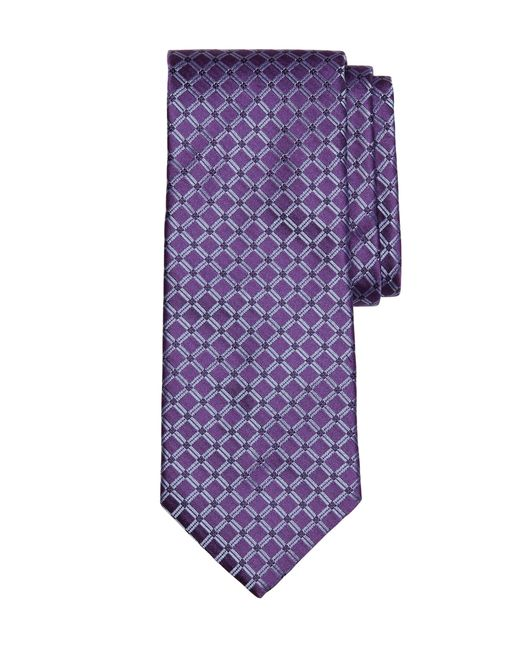 Brooks Brothers | Purple Four-dot Windowpane Tie for Men | Lyst