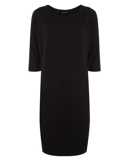 Jaeger   Black Jersey Seamed Detail Dress   Lyst