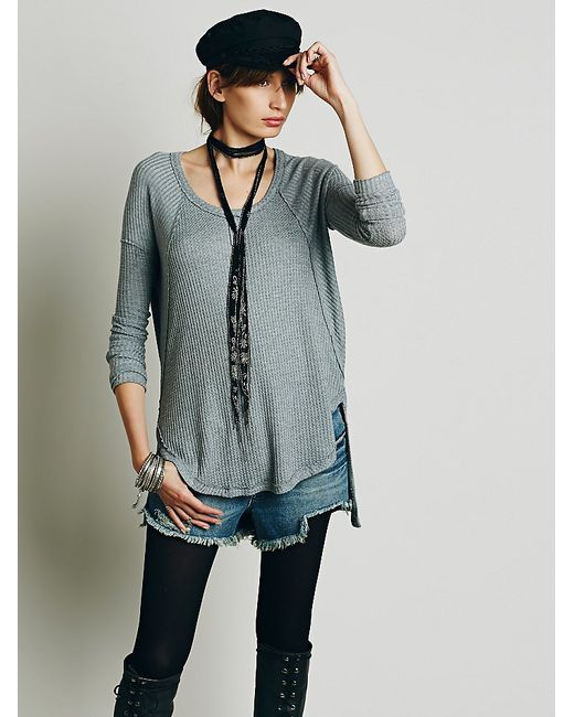 Free People | Gray We The Free Ventura Thermal | Lyst