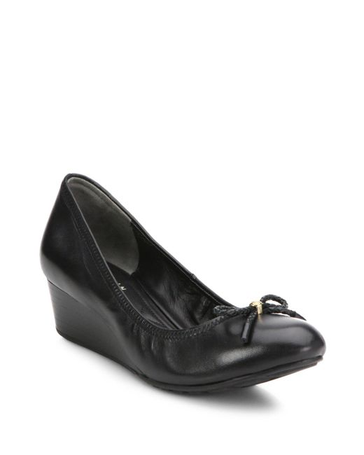 Cole Haan | Black Tali Grand Leather Wedge Pumps | Lyst