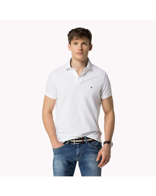 Tommy Hilfiger | White Luxury Pique Polo for Men | Lyst