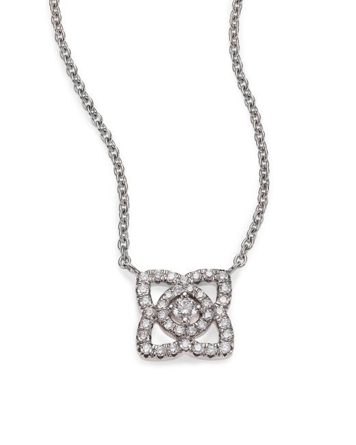 De Beers | Metallic Enchanted Lotus Diamond & 18k White Gold Mini Pendant Necklace | Lyst