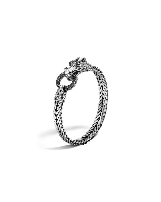 "John Hardy | Black ""naga Lava"" Gold & Silver Large Chain Bracelet | Lyst"
