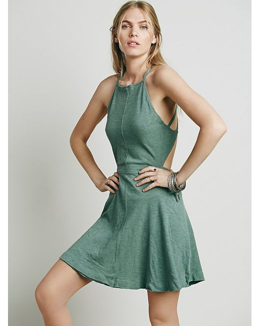 Free People | Green Tatiana Sexy Back Mini | Lyst