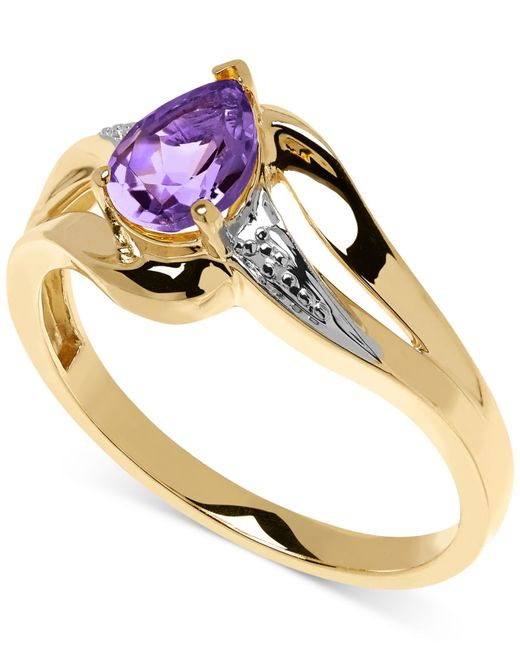 Macy's | Metallic Amethyst (5/8 Ct. T.w.) And Diamond Accent Ring In 10k Gold | Lyst